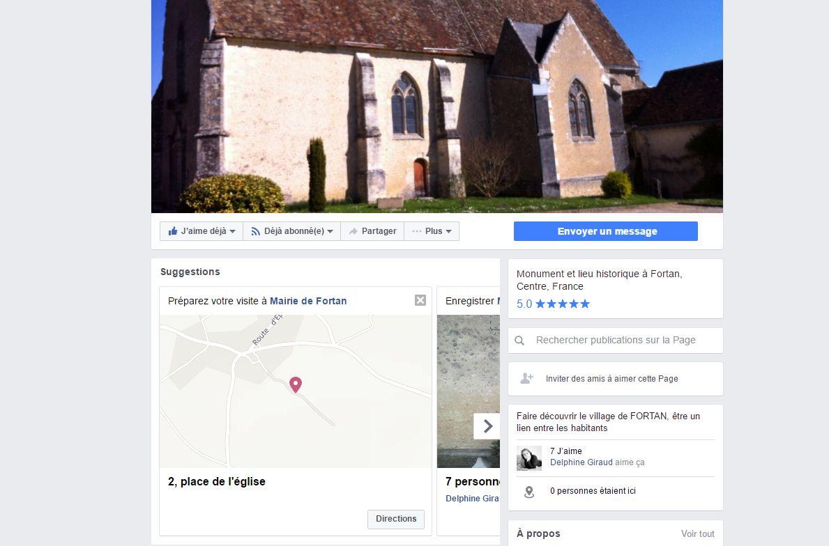 Page Facebook de la Mairie de Fortan